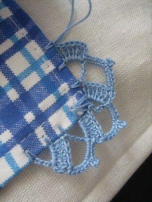 Les 25 meilleures id es concernant nappe en crochet sur pinterest rideaux en crochet motif de - Bordure de finition au crochet ...