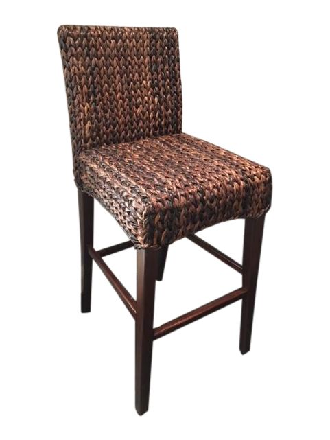 Wicker Bar Stools - Set of 4