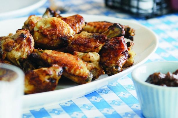 Buffalo wings were invented in the city of Buffalo in New York State, where they are traditionally served with a blue-cheese dip. However, these wings are served with  spicy barbecue sauce with a bit of a kick. Eat with your fingers, of course.