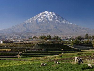 The  Misti  is a  volcano  in the cone shape located in southwestern  Peru , near  Arequipa .