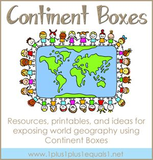 Make geography come alive by creating Continent Boxes! Link includes printable labels, contents, and links to other resources (the whole blog is EXCELLENT...)
