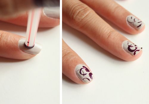 Straw Stamp Nails with Syl and Sam at LuLus.com
