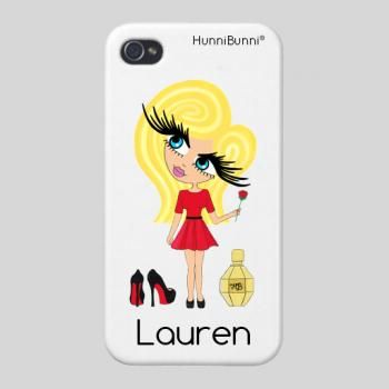 Lady in Red HunniBunni  Personalised Phone Case