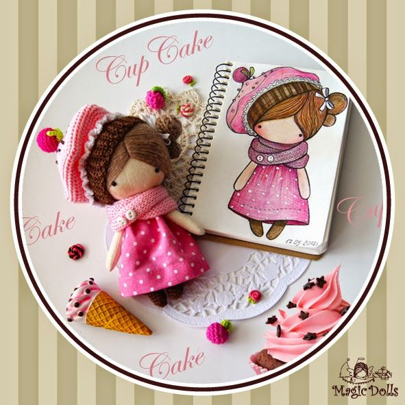 magicdolls: Crochet dolls Ma Petite Poupee - Crimson CupCake