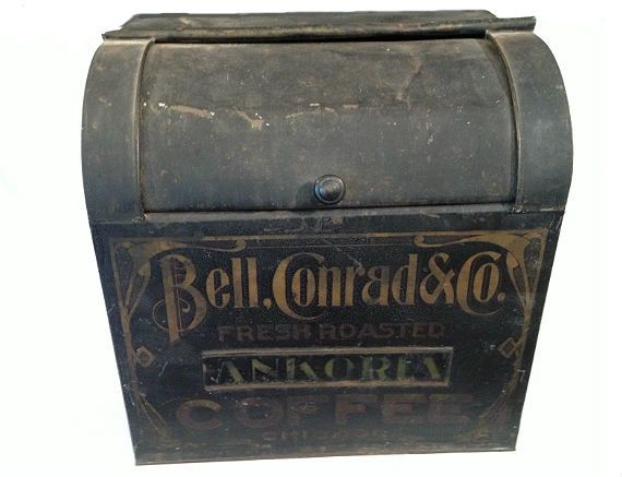 Hey, I found this really awesome Etsy listing at https://www.etsy.com/listing/165034597/great-antique-metal-coffee-bin-by-bell