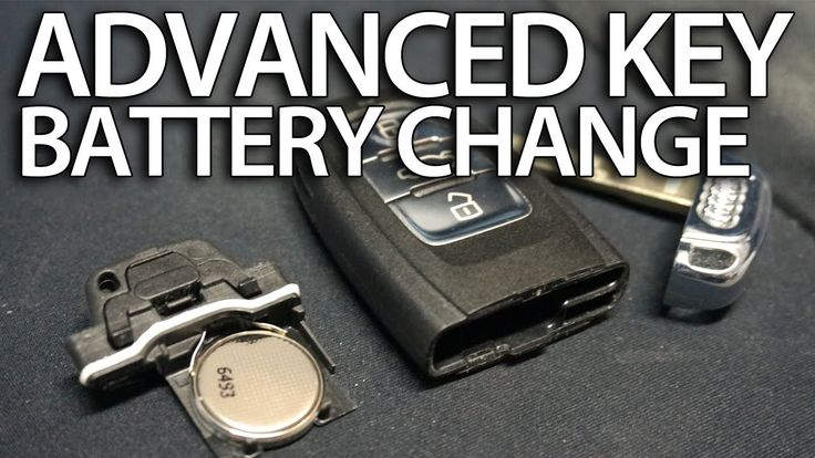 How to change battery in Audi Advanced Key remote