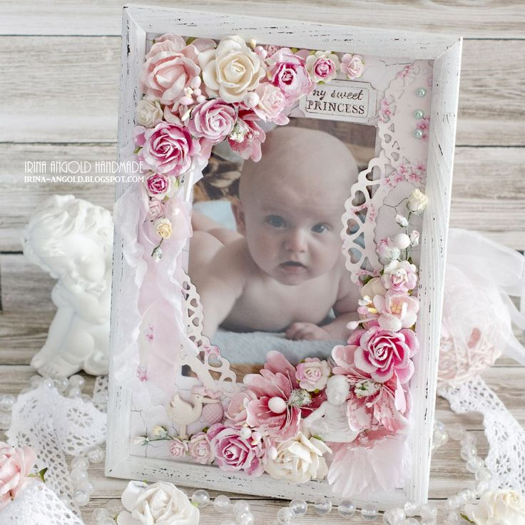 altered shabby chic picture frame