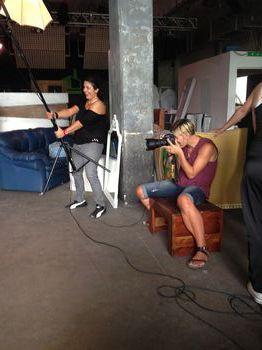 Sabina De Conciliis e Alessia al lavoro durante lo shooting