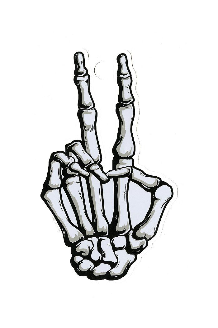 Skeleton Hand Peace Sign <3