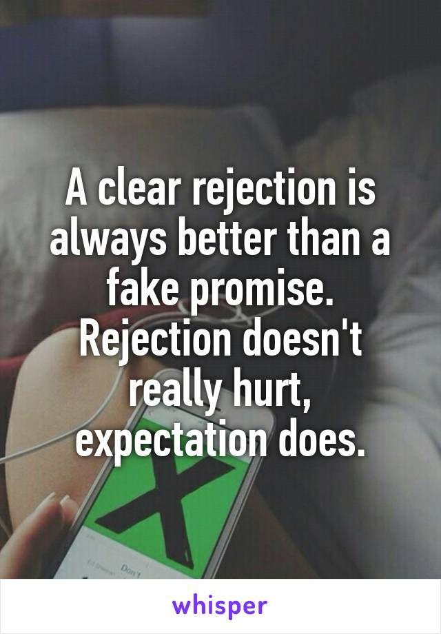 Dating rejection depression