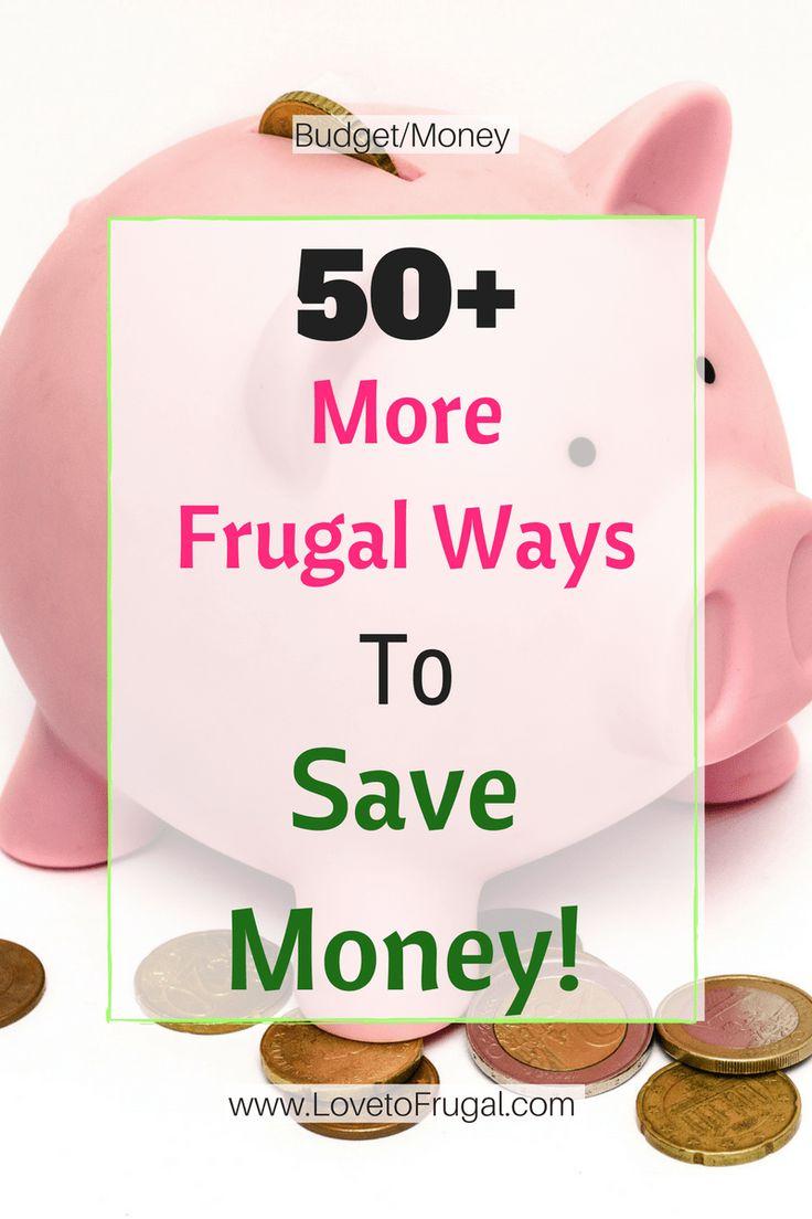 50+ Frugal Ways To Save Money