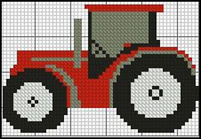"Tractor 2 Red Complete Counted Cross Stitch Kit 4"" x 3"" in Crafts, Needlecrafts & Yarn, Embroidery & Cross Stitch 