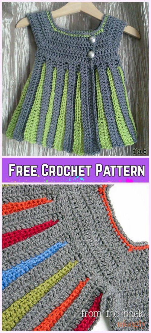 6d578cbaf9ae Crochet Eloise Baby Sweater Cardigan Free Pattern