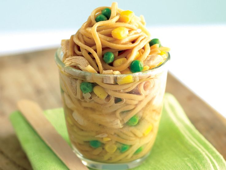 Noodle Chicken is always popular with kids, but the ones you buy are really high in salt. It only takes a few minutes to make your own and it