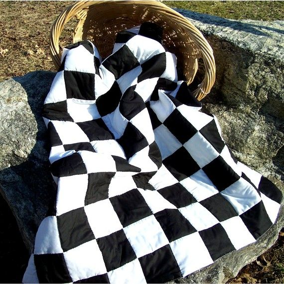 Black and White Queen Size Quilt by SherrysHouse on Etsy, $600.00