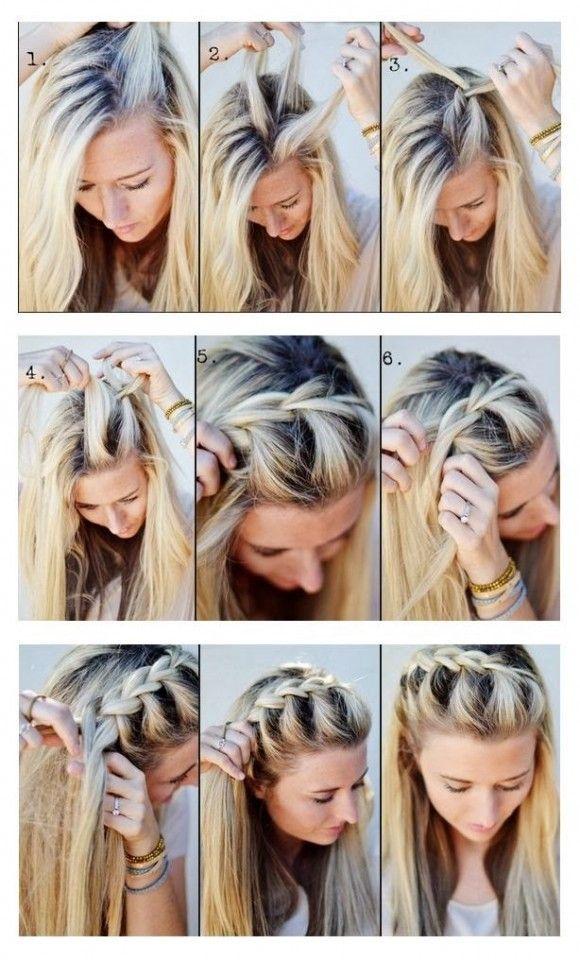 Surprising 1000 Ideas About Front Braid Tutorials On Pinterest Front Short Hairstyles For Black Women Fulllsitofus
