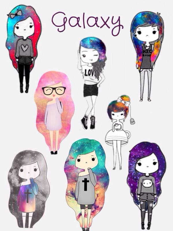 galaxy girl emo girl tumblr beautiful girly badgirl or