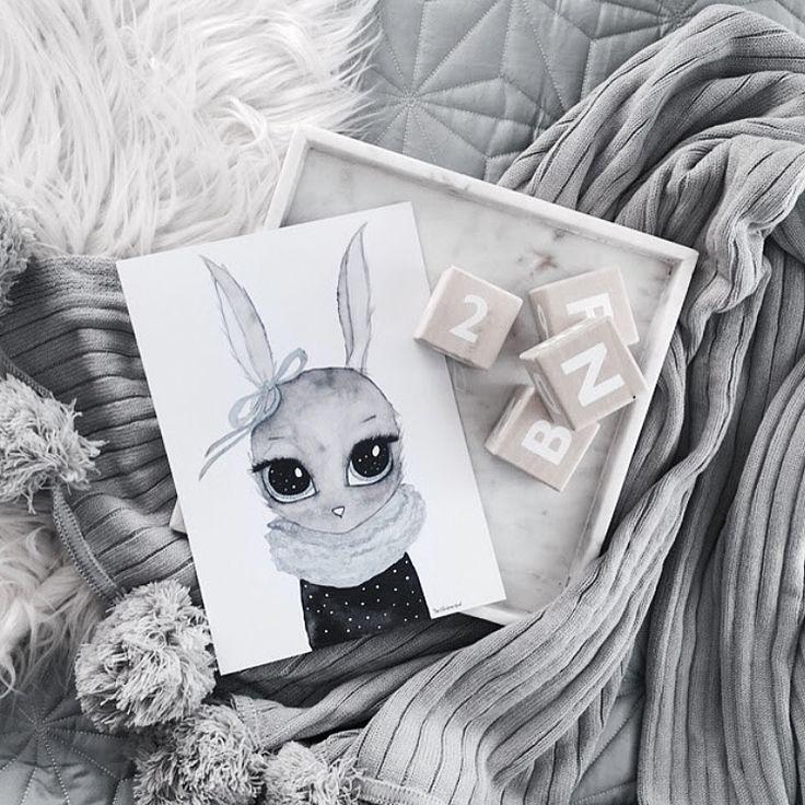Miss Blu <3 A4 print #kidsroom #artprint #bunny