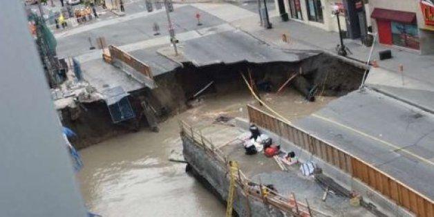 Massive Sinkhole Opens Up In Heart Of Downtown Ottawa