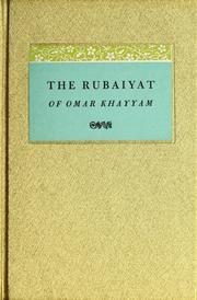The Rubaiyat of Omar Khayyam, the First Version translated by Edward Fitzgerald and illustrated by Edmund J. Sullivan.