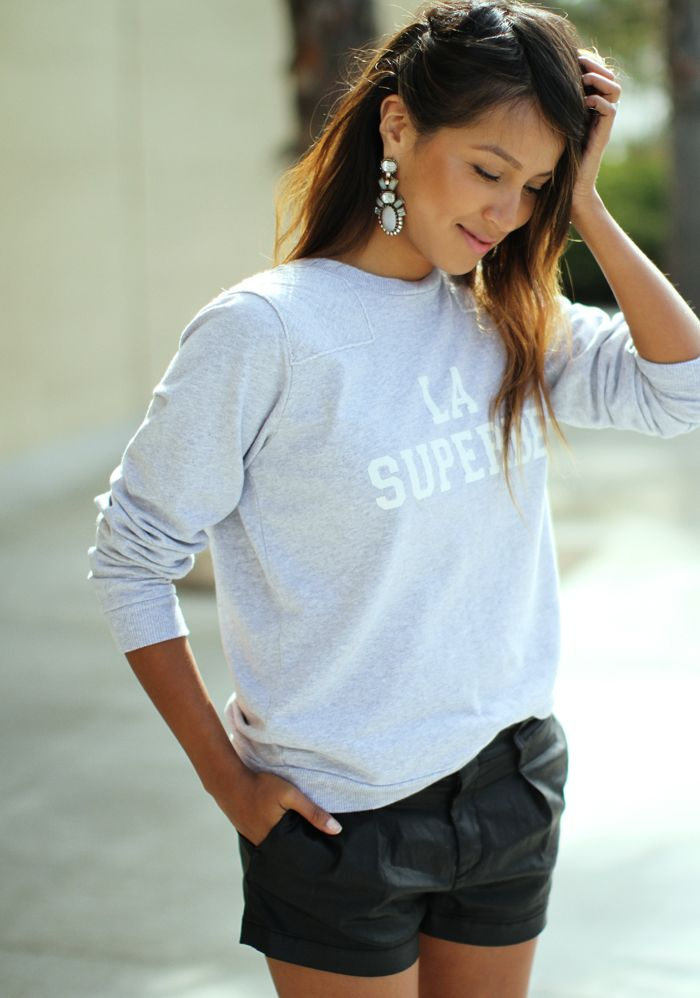 Tip: Always wear fancy/chandelier earrings to dress up your tees and jumpers!