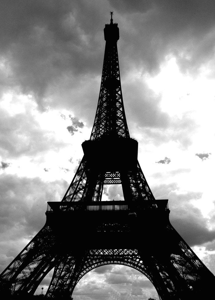Eiffel Tower Paris... 2006 Photography/Photoshop Peter Carman