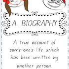 Biography Worksheets for young learner's.
