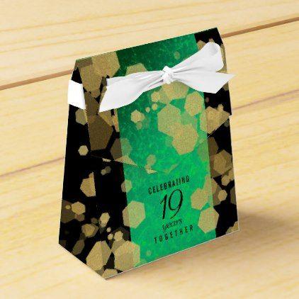 Elegant 19th Jade Wedding Anniversary Celebration Favor Box