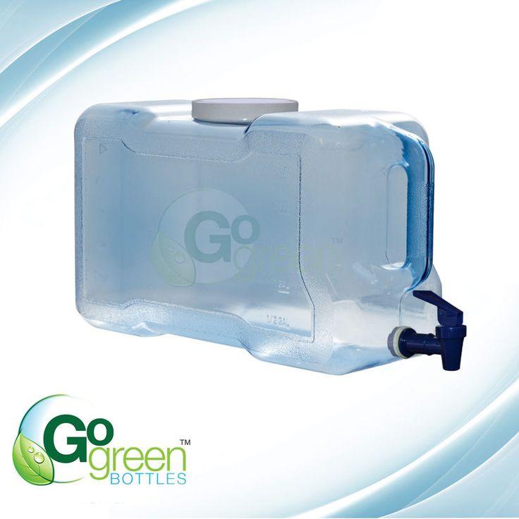 3 Gallon Portable Water Bottle & Dispenser With 100 mm Screw Cap Made USA New #GoGreenBottles