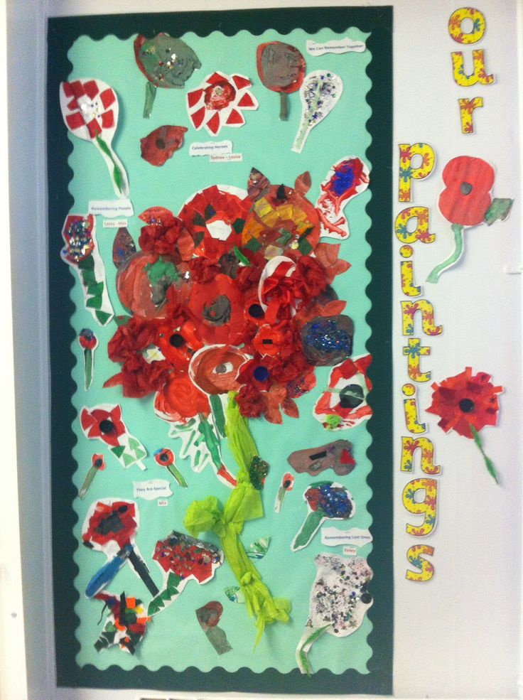 Remembrance poppies - reception class
