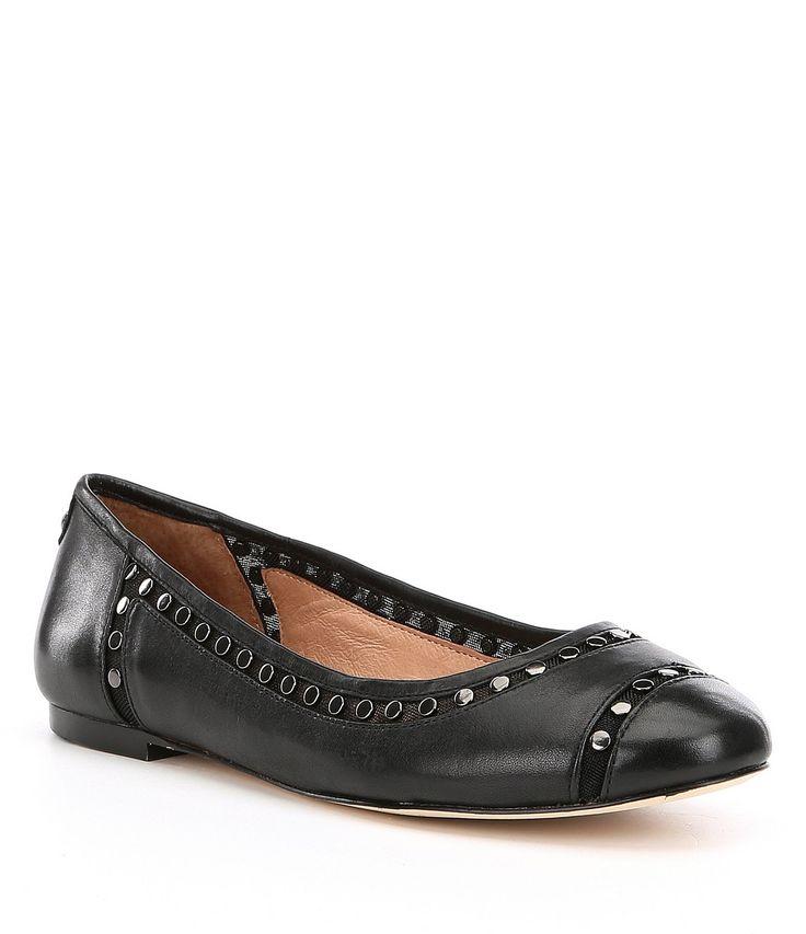 Antonio Melani Lannce Studded Block Heel Flats #Dillards