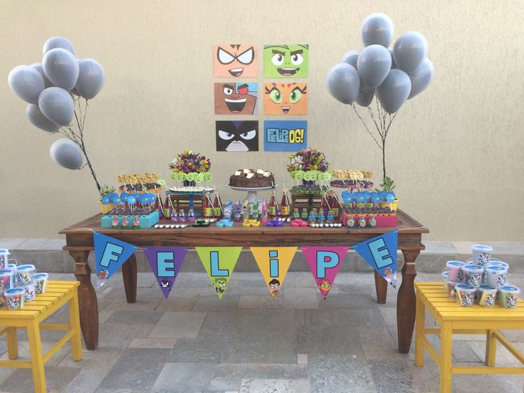 17 best Teen Titans Go! Birthday Party images on Pinterest | Birthday party ideas, Teen titans ...