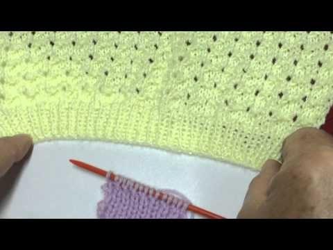 Hilda Eroles - vídeo 35 - polaina com ponto Detalhes no tricô - YouTube