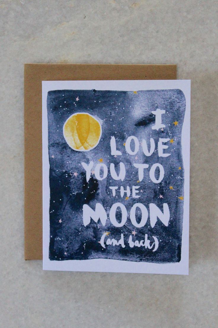 Love You to the Moon Greeting Card