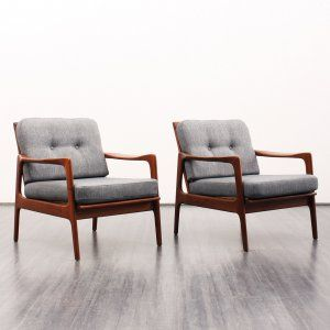 armchairs / easy chairs Shapely cherrywood armchair, new cover, availability two,( no. 5887 ) Karlsruhe Velvet-Point