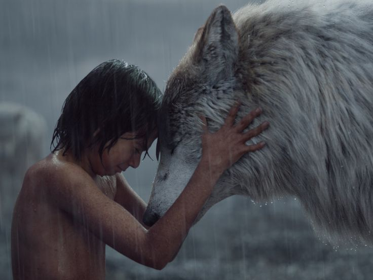 """'Jungle Book' Love: Why I Identify With The 'Flower In Underpants' Mowgli has a moment with Raksha, the """"mother wolf"""" who adopted him."""
