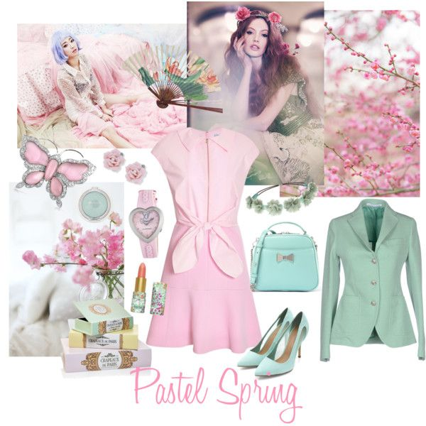 Pastel Spring by giovanina-001 on Polyvore featuring Carven, Tagliatore, CHARLES & KEITH, Bling Jewelry, Chronotech, Palm Beach Jewelry, Charlotte Russe, claire's and tarte