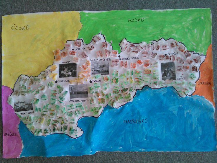 Slovenská republika a susedné štáty.