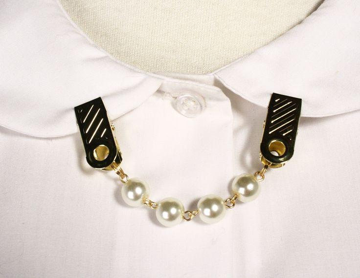 "Sweater Guard Pearl or Double Chain with 1"""" Clip"