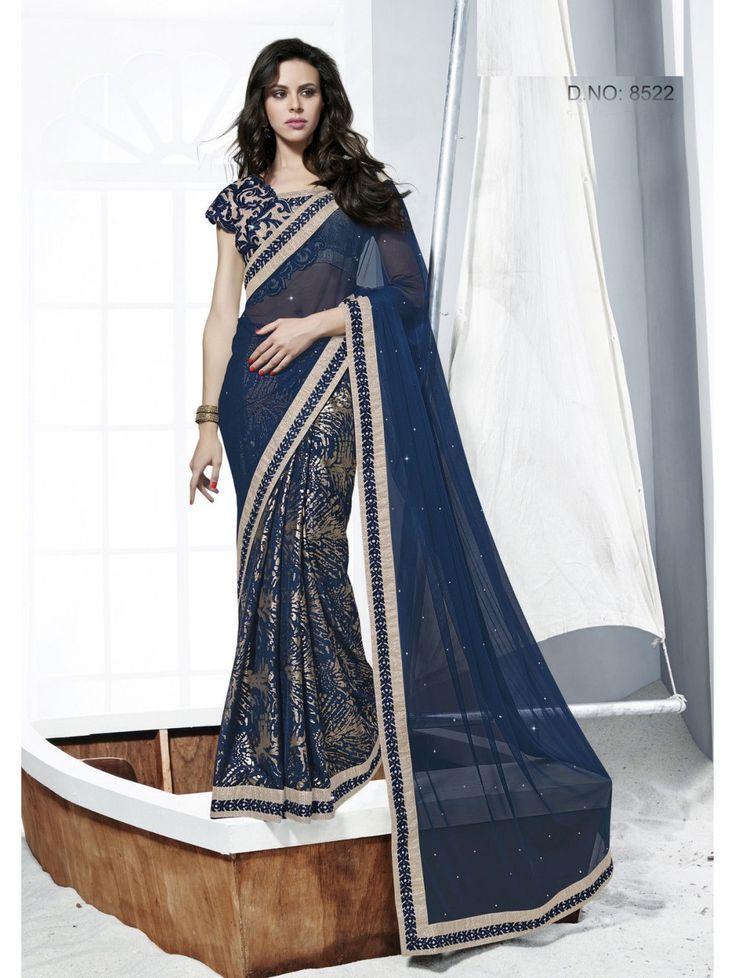 Bollywood Saree Party Wear Indian Ethnic Pakistani Designer Sari Wedding Dress