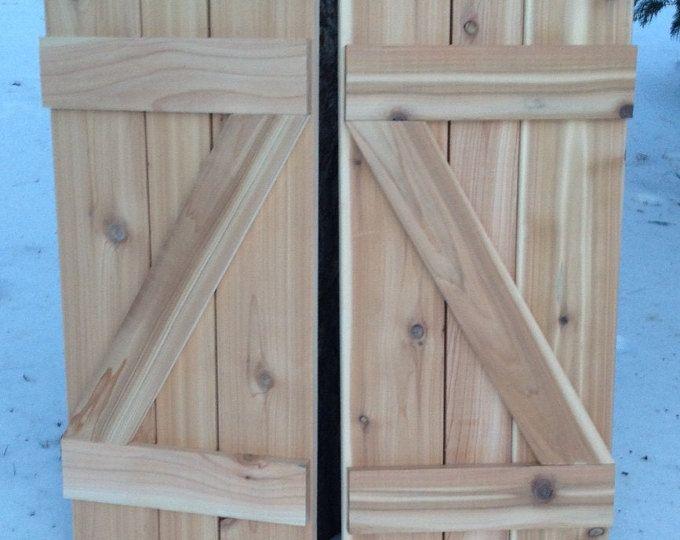Available Z Shaped Shutter Board And Batten Cedar