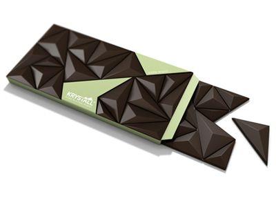 Krystall chocolate bar by Riccardo Carlet