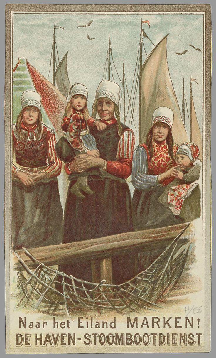 Naar het eiland Marken! De Haven-Stoombootdienst 1900-1925 ontwerper/artdirector: Haven-Stoombootdienst (Amsterdam) #NoordHolland #Marken