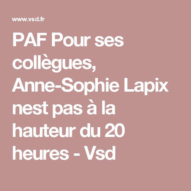 PAF Pour ses collègues, Anne-Sophie Lapix nest pas à la hauteur du 20 heures - Vsd