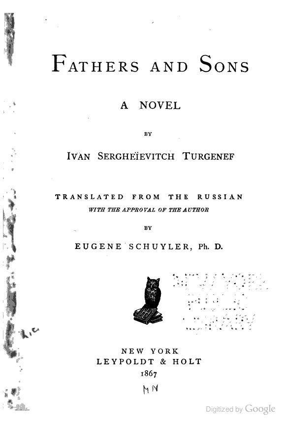 an analysis of turgenevs novel fathers and sons Read fathers and sons (oxford world's classics) book reviews & author details  and  turgenev's masterpiece about the conflict between generations is as fresh,   a phrase in summary with a perspective that regrets that look like hopes and.