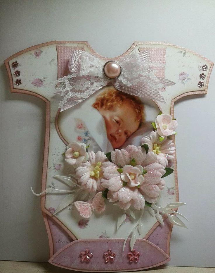 baby girl card by Marjan van der Wiel