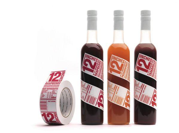 12 Inches Branding + Packaging by Clinton Duncan, via Behance: Idea, Design Magazines, Bottle Labels, Packaging Design, Juice Packaging, 12Inch, 12 Inch, Beverages Packaging, Bottle Design