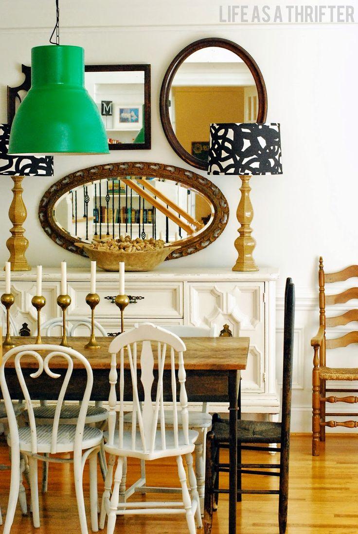 dining room  via Life as a Thrifter