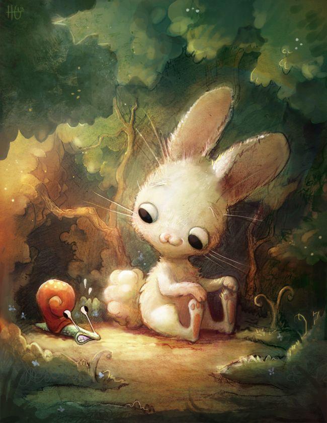 Картинки кролика арт