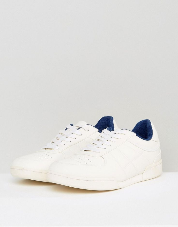 ASOS Sneakers In White With Split Sole - White
